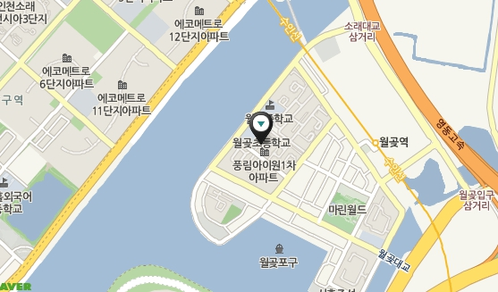시흥월곶초등학교 오시는길 지도, 아래 주소 참조